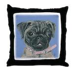 Pug Pup Throw Pillow