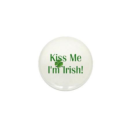 Kiss Me I'm Irish Mini Button