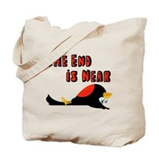 The End Is Near Birds Falling Tote Bag
