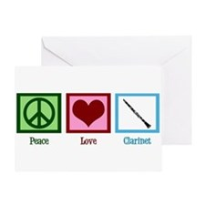 Peace Love Clarinet Greeting Card