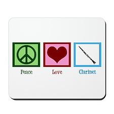 Peace Love Clarinet Mousepad
