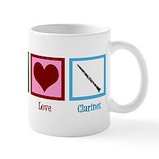 Peace Love Clarinet Mug