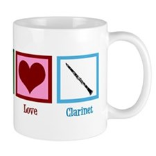 Peace Love Clarinet Mug