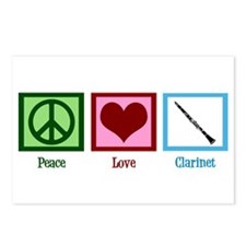 Peace Love Clarinet Postcards (Package of 8)