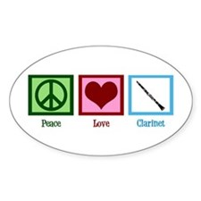 Peace Love Clarinet Decal