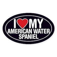 I Love My American Water Spaniel Sticker/Decal