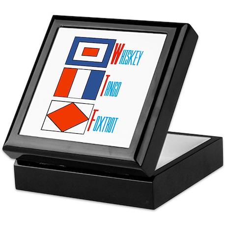 WTF Signal Flags Keepsake Box