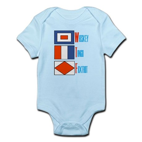 WTF Signal Flags Infant Bodysuit