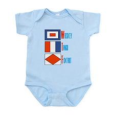 WTF Signal Flags Infant Bodysuit