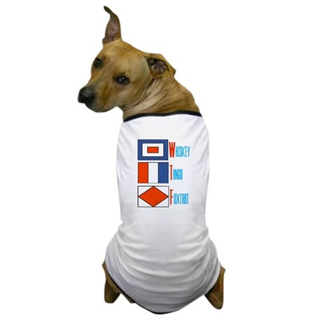 WTF Signal Flags Dog T-Shirt
