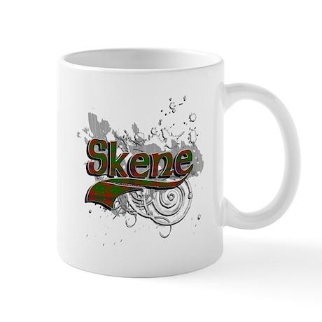 Skene Tartan Grunge Mug