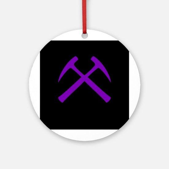 Purple Rock Hammers Ornament (Round)
