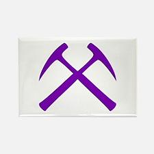 Purple Rock Hammers Rectangle Magnet