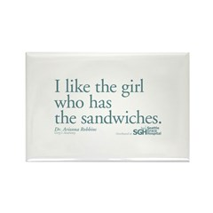 I Like the Girl Who Has the Sandwiches Rectangle M