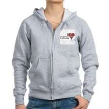I Heart Calzona - Grey's Anatomy Women's Zip Hoodi