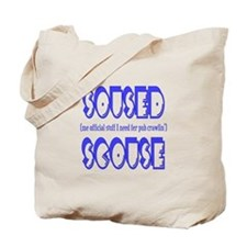 Soused Scouse Blue Tote Bag