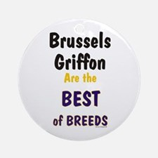 Brussels Griffon Best Breed Ornament (Round)
