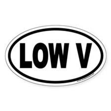 LOW V Euro Oval Decal