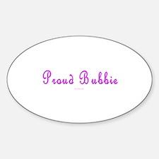 Proud Bubbie Jewish Sticker (Oval)