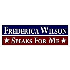 Frederica Wilson Speaks for Me bumper sticker
