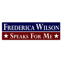 Frederica Wilson Speaks for Me bumper sticker