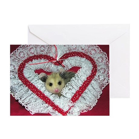 Opossum/Possum Valentine Card