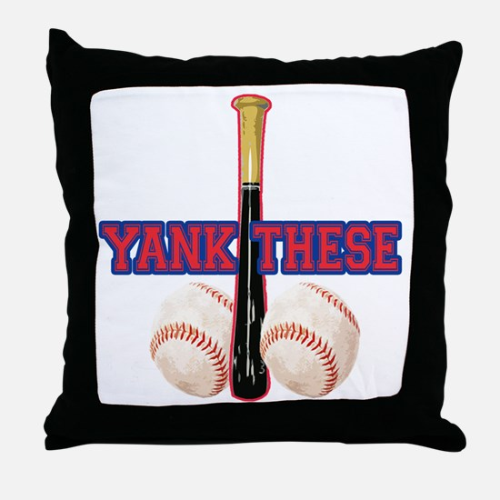 Cute Yankees suck Throw Pillow