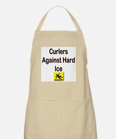 Curlers Against Hard Ice BBQ Apron