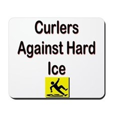Curlers Against Hard Ice Mousepad