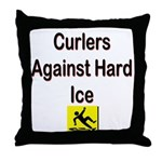 Curlers Against Hard Ice Throw Pillow