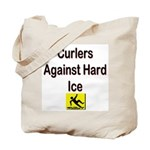 Curlers Against Hard Ice Tote Bag