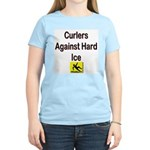 Curlers Against Hard Ice Women's Pink T-Shirt