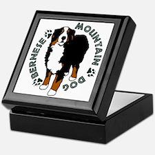 Standing Bernese Mountain Dog Keepsake Box