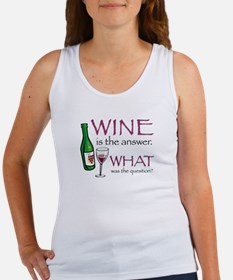 Wine is the Answer Women's Tank Top