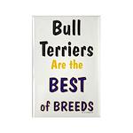 Bull Terrier Best Breeds Rectangle Magnet (10 pack