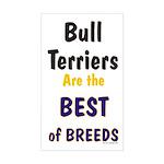 Bull Terrier Best Breeds Rectangle Sticker