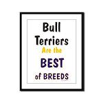 Bull Terrier Best Breeds Framed Panel Print