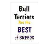 Bull Terrier Best Breeds Postcards (Package of 8)