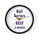 Bull Terrier Best Breeds Wall Clock