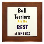Bull Terrier Best Breeds Framed Tile