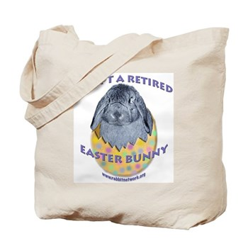 Adopt a Retired Easter Bunny Tote Bag