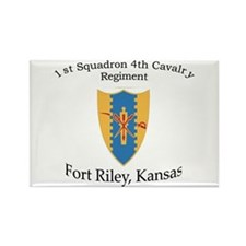 1st Squadron 4th Cavalry Rectangle Magnet