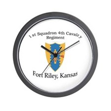 1st Squadron 4th Cavalry Wall Clock