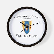 1st Squadron 4th Cavalry Wall Clock