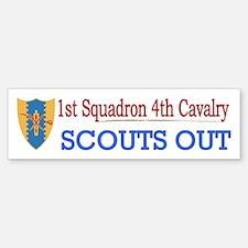 1st Squadron 4th Cavalry Bumper Bumper Sticker