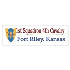 1st Squadron 4th Cavalry Car Sticker