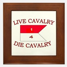 1st Squadron 4th Cavalry Framed Tile