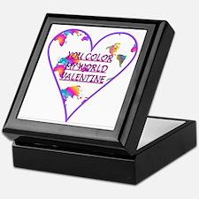 """You Color My World ..."" Keepsake Box"