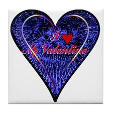 """I Love My Valentine"" Tile Coaster"