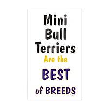 Mini Bull Terrier Best Breed Rectangle Decal